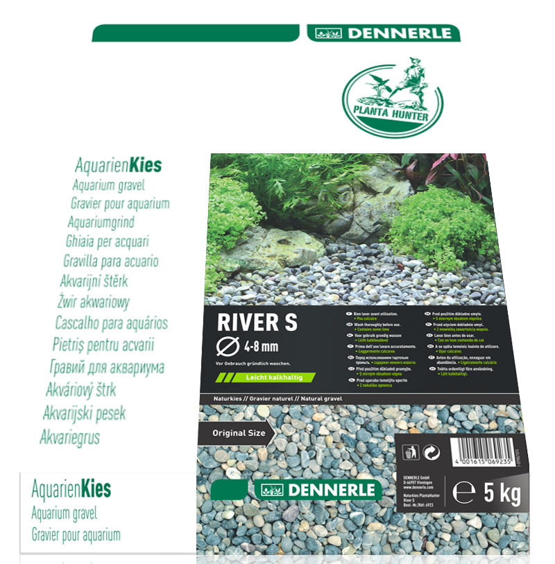 DENNERLE PlantaHunter Natural Gravel (RIVER / 5KG / 4-8mm)