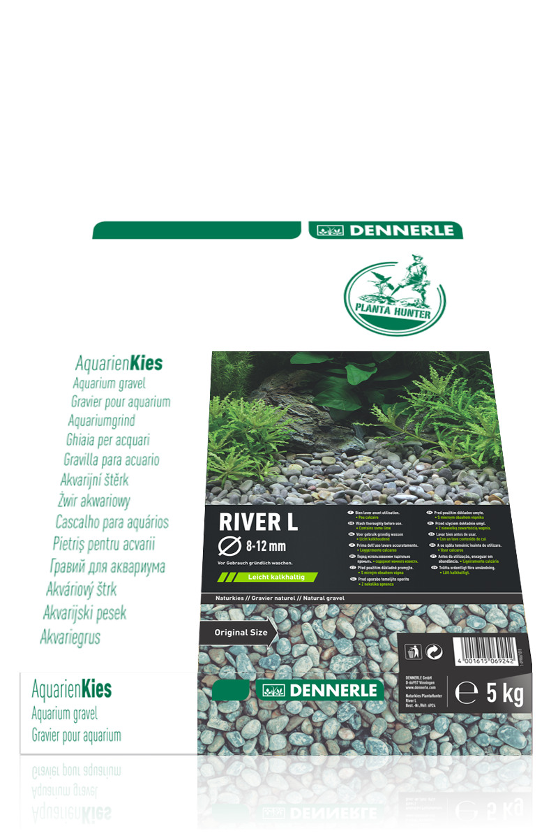DENNERLE PlantaHunter Natural Gravel (RIVER L / 5KG / 8-12mm)