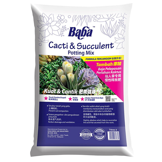 BABA Cacti & Succulent Potting Mix (7L)
