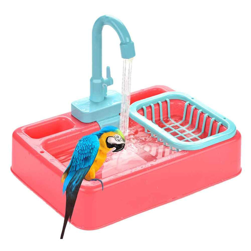 FIDS-PLAY Bird Shower Basin (Battery Operated)