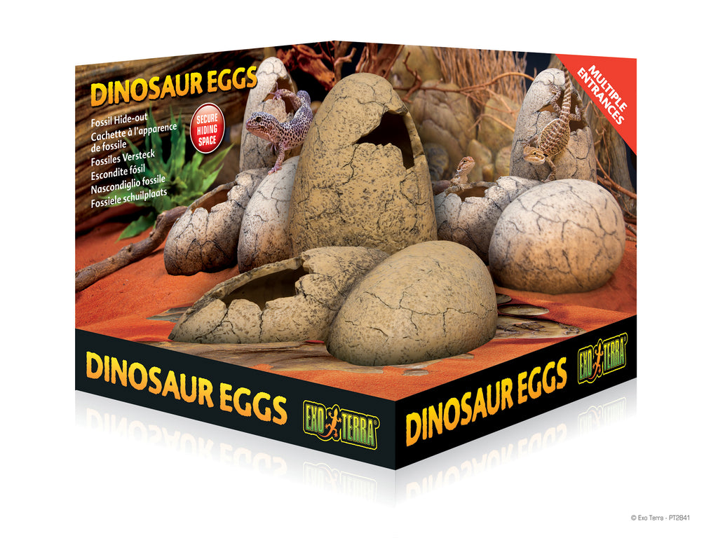 EXOTERRA Dinosaur Egg Fossil Hide Out