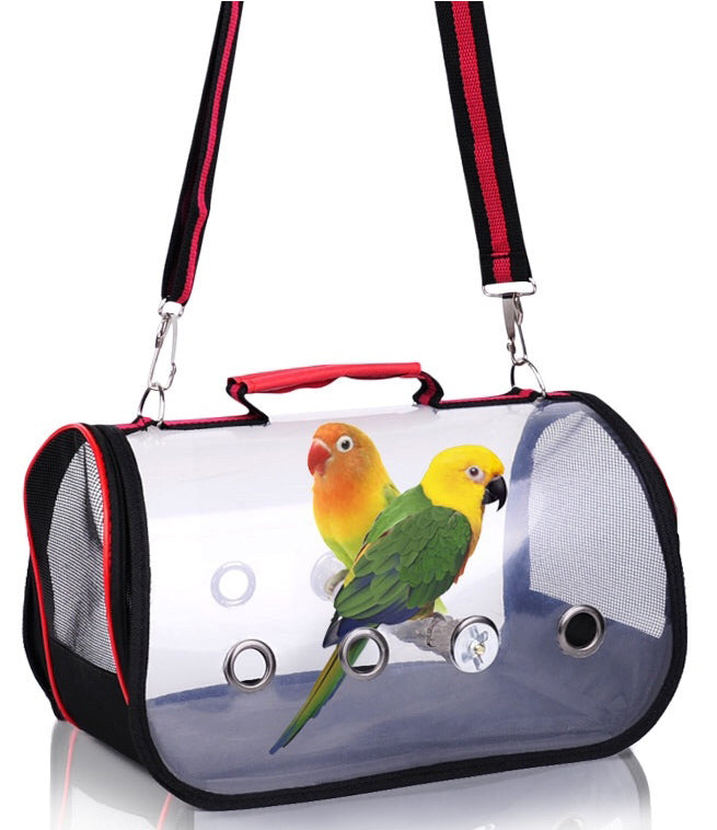 FIDS-PLAY BIRD CARRIER (Sling Bag / Transparent)
