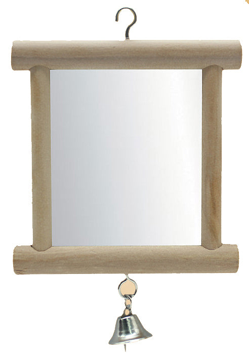 FIDS-PLAY HANGING Mirror (Dual Sides / Wooden / with Bell)
