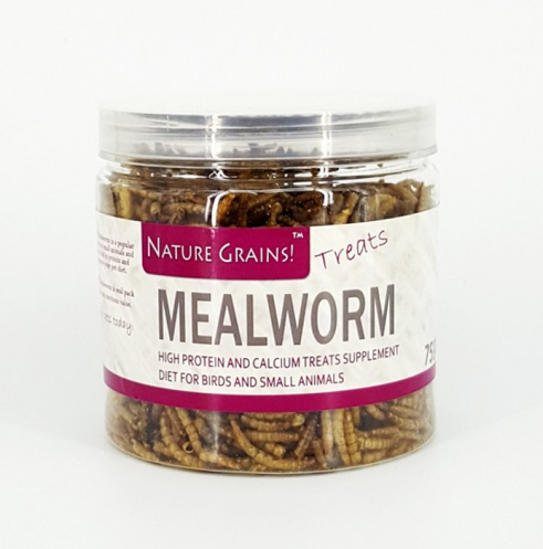 NATURE GRINS Dried Mealworm (75g)