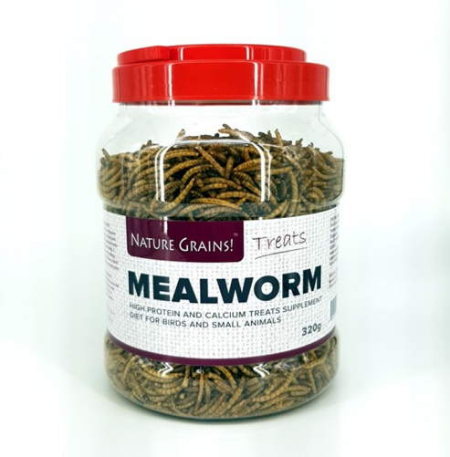 NATURE GRINS Dried Mealworm (320g)