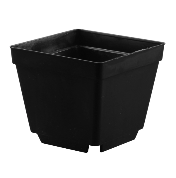 GCS Square Pot (L / Black / 10 x 10 x 8.5cm)