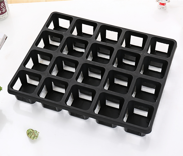 GCS Square Pot TRAY (S / Black / FOR 20 POTS)