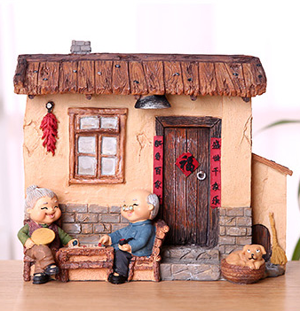 TERRA Old Couple (At Home 1 / 19x8x15cm)