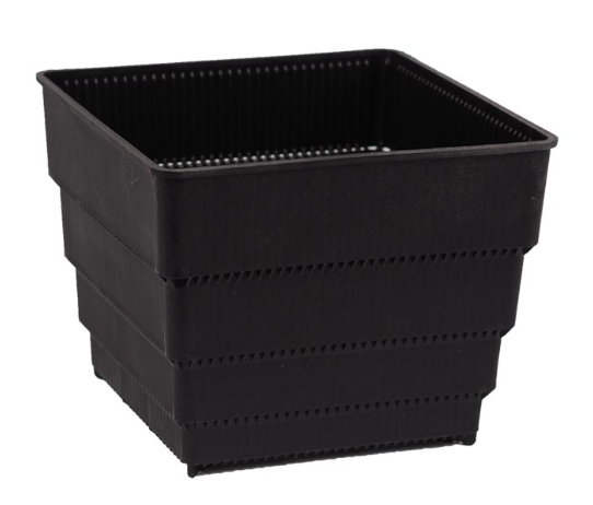 GCS Square AIRY Pot (M / BLACK / 10x10 x9.6H cm)