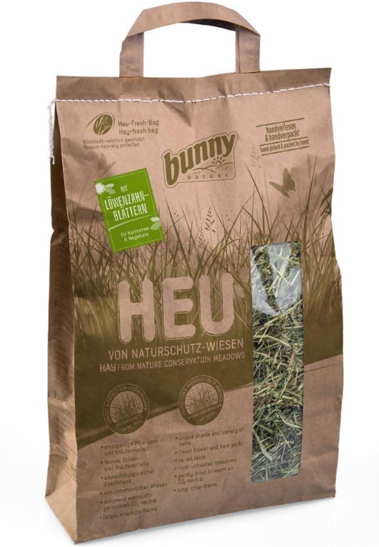 BUNNY NATURE Hay from Nature Conserv Meadows w/Dandelion Leaves (250g)