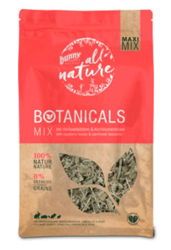 BUNNY NATURE Maxi Mix Raspberry Leaves & Cornflower (450g)