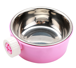 GCPETS Metal Food Bowl (Pink)