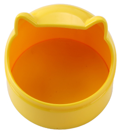 GCPETS Owl Food Bowl (Yellow)