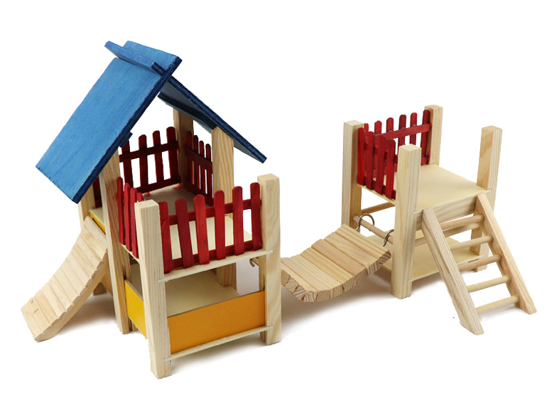 GCPETS Hamster Play House (A / Wood / 41x16cm)