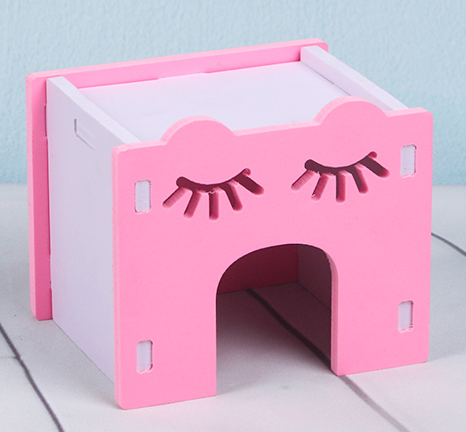 GCPETS Hamster Play House (Eye Brow Nest / Pink / 10x8x8cm)