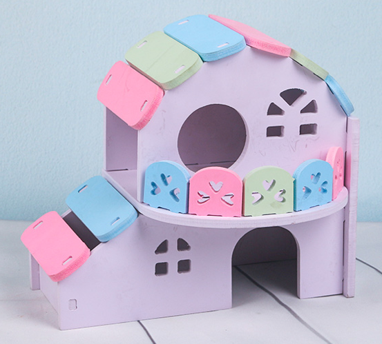 GCPETS Hamster Play House (Banglow / 19x13x16.7cm)