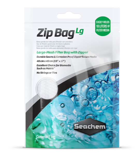 SEACHEM Large Zip Bag