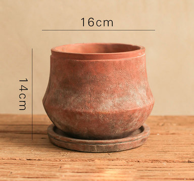 TERRA POTS TERRACOTTA - Cottage Style Urn Pot (With Tray)