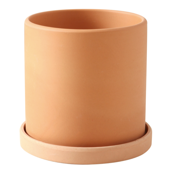 TERRA POTS TerraCotta Cylinder (with Tray)