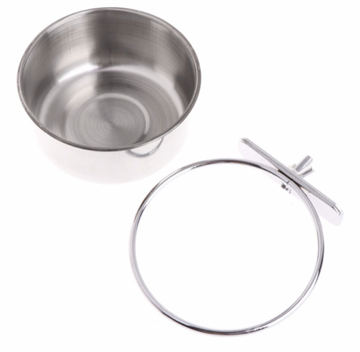 FIDS-PLAY Stainless Steel Bowl (Flat / Broad / Clamp Holder Ring)
