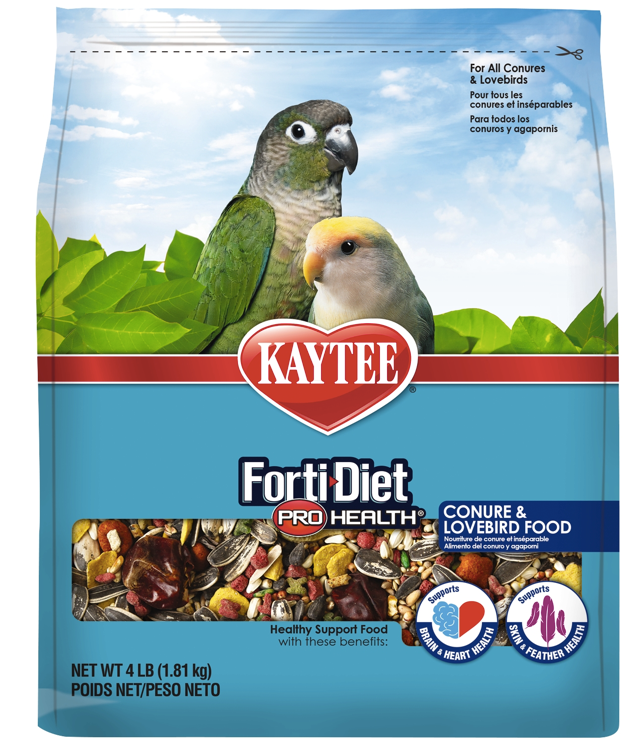 KAYTEE FORTI-DIET Pro Health Conure& Lovebird Food (4lb)