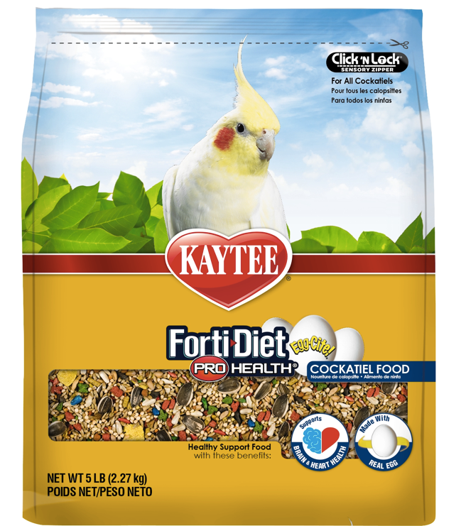 KAYTEE FORTI-DIET Egg-Cite! Cockatiel Food (5lb)