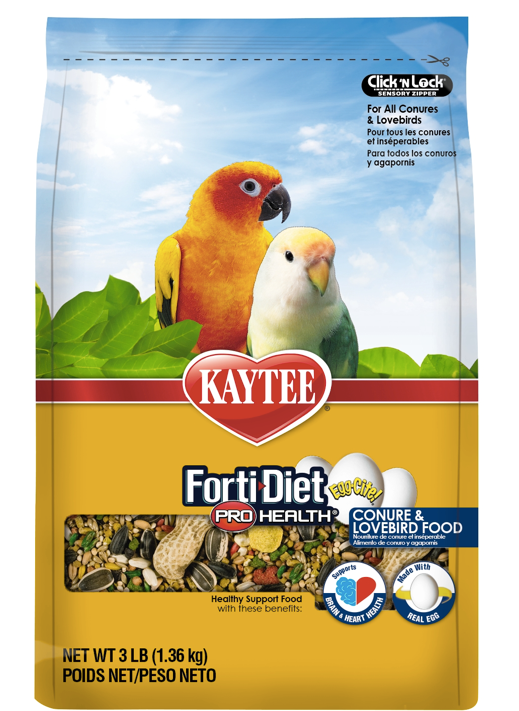 KAYTEE FORTI-DIET Egg-Cite! Conure & Lovebird Food (3lb)