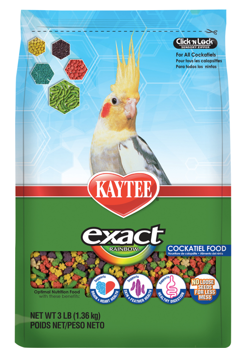 KAYTEE EXACT RAINBOW Cockatiel Food (3lb)