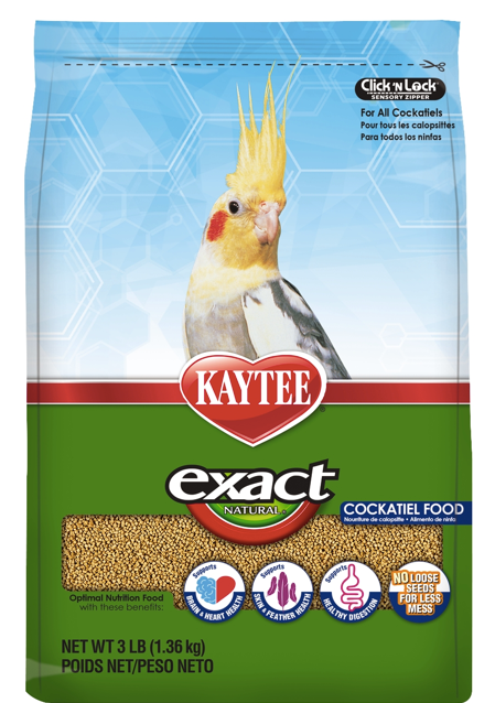 KAYTEE EXACT NATURAL Cockatiel (3lb)