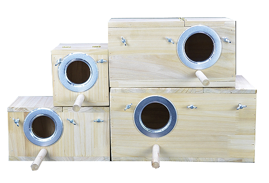 FIDS-PLAY NESTER (Pine Wood / Breeding Box)