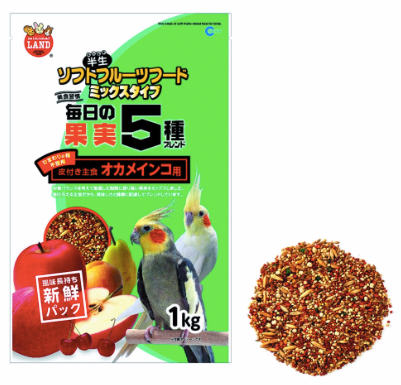 MARUKAN Five Kind Soft Mixed Fruit for Birds (MB202)
