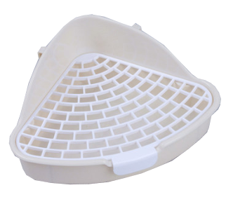 GCPETS Rabbit Toilet (Triangle / White / S)