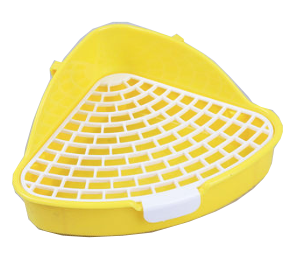 GCPETS Rabbit Toilet (Triangle / Yellow / S)
