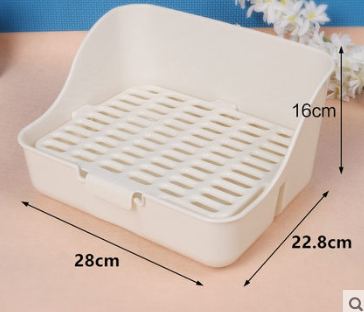 GCPETS Rabbit Toilet (Square / White / L)