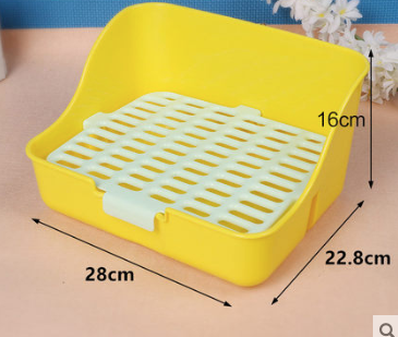 GCPETS Rabbit Toilet (Square / Yellow / L)