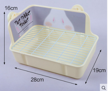 GCPETS Rabbit Toilet (Rectangle / White / L)