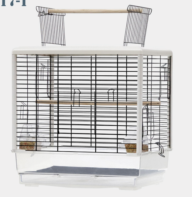 YUEDI Bird Cage (PE17 Series / WHITE / 47x35x47.5-61cm)