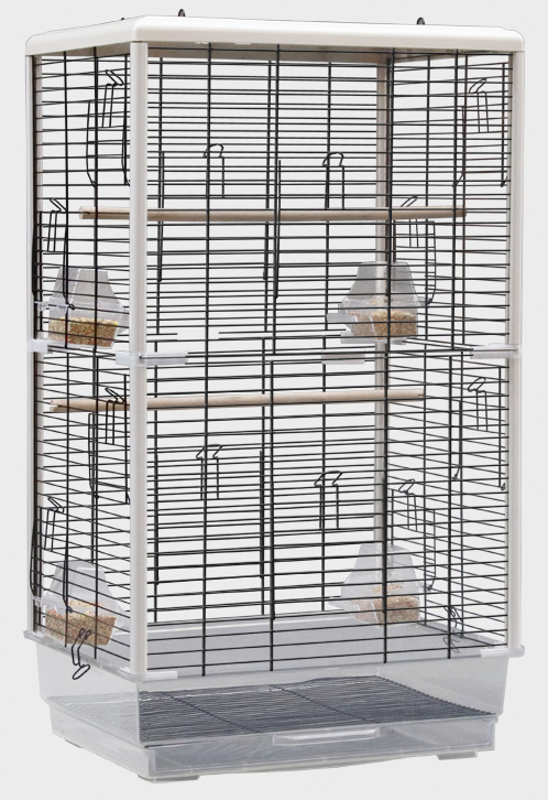 YUEDI Bird Cage (PE18 Series / WHITE / 47x35x80cm)