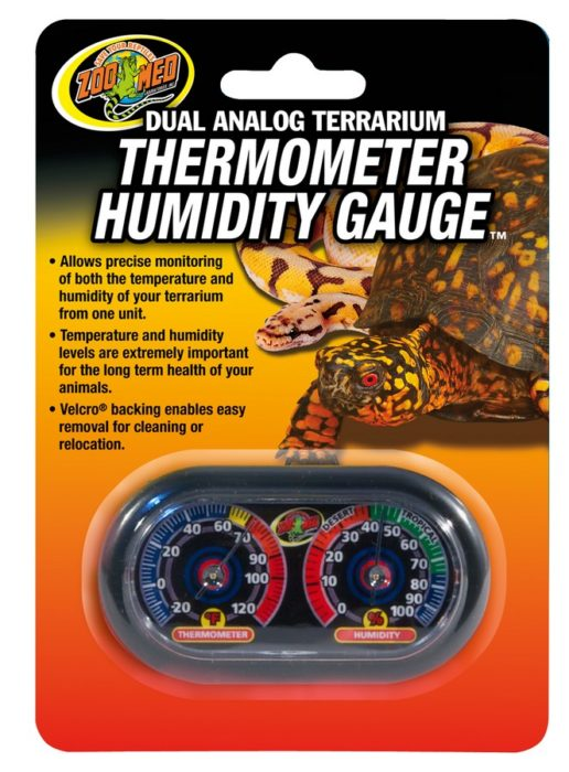 ZOO MED Dual Analog Thermometer/Humidity Gauge