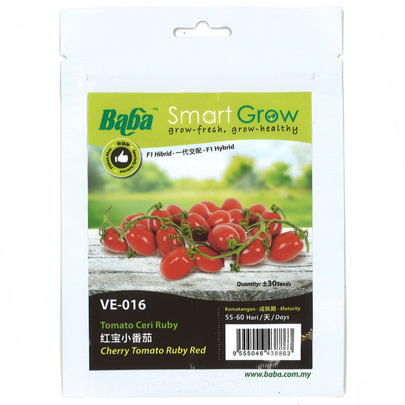 BABA Seed VE-016 Cherry Tomato Ruby Red 红宝小番茄