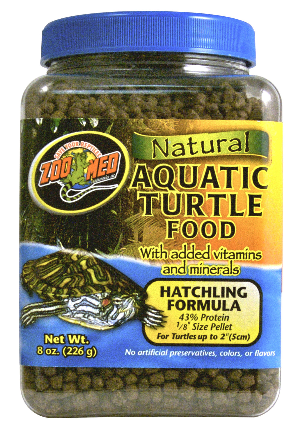 ZOO MED Natural Turtle Food (Hatchling Formula)