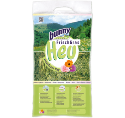 BUNNY NATURE Fresh Grass Hay w/Blossoms (500g)
