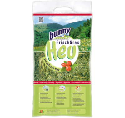 BUNNY NATURE Fresh Grass Hay w/Rosehip (500g)