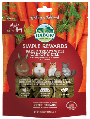 OXBOW Simple Rewards Baked Treats with Carrot & Dill (85g)