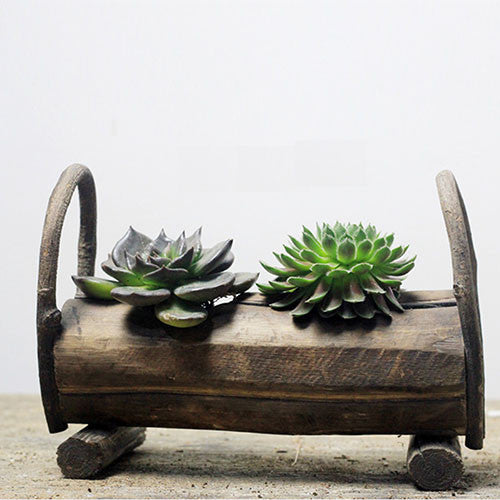 TERRA POTS Wood Log (Double Hole)
