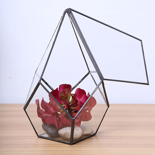 TERRA POTS Geometric Terrarium #22AS (17cmH / DiaTower S with Door)