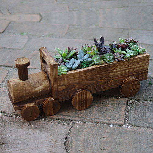TERRA POTS Vehicle #09 (Wooden Train)