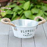 TERRA POTS Old Metal Bucket (Round White L)