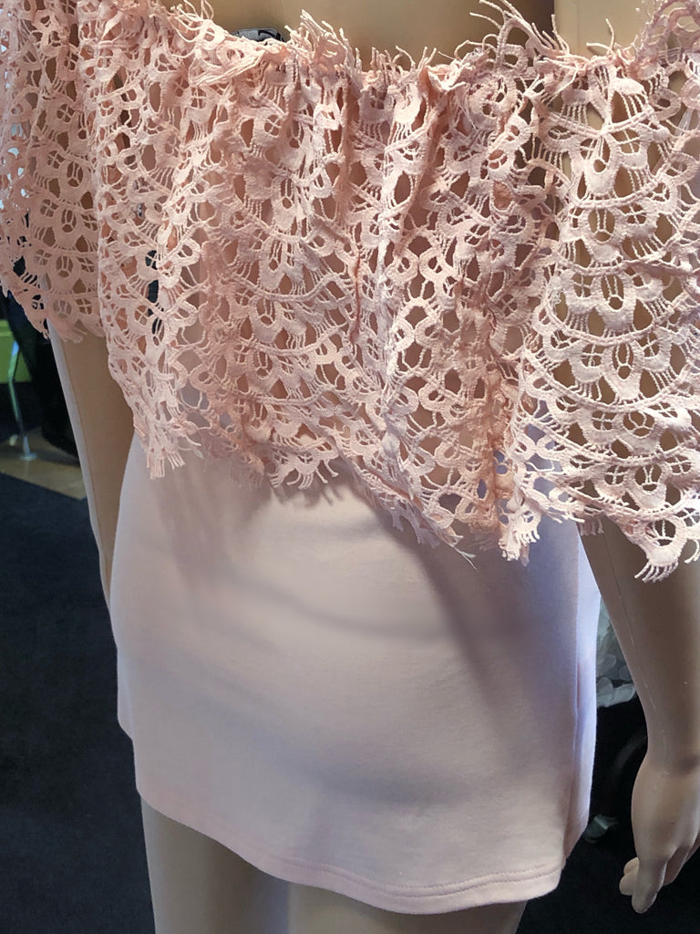 Lace Detail Bardot Top