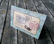Thank You Cards: Vintage Travel